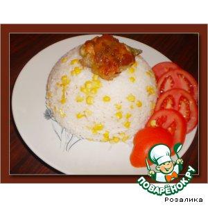Рецепт Отварной  рис с кукурузой