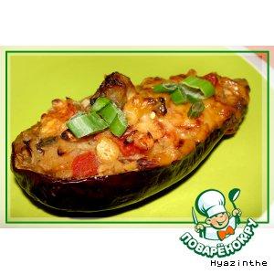 Рецепт Баклажаны с горохово-овощной начинкой