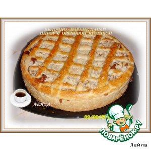 Рецепт Яблочно-карамельный пирог с ореховой крошкой