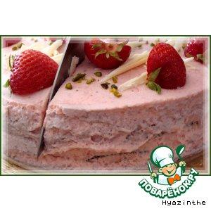 Рецепт Маковый торт с клубничным кремом