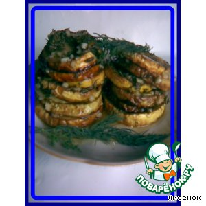 Рецепт Кабачки жаренные, в маринаде