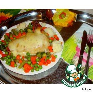 Рецепт Горячий  бутерброд  с  куриной  ножкой