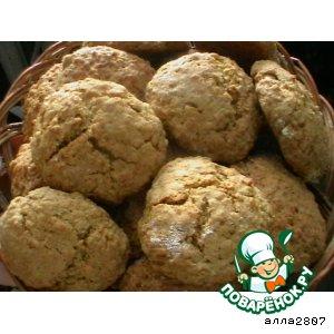 Рецепт Печенье из овсяных хлопьев с мeдом