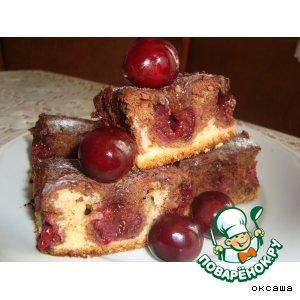Рецепт Пирог с вишнями и шоколадом