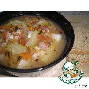 Рецепт Овощной суп с беконом