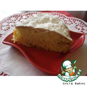 Рецепт Пирог с персиками и кокосовой стружкой