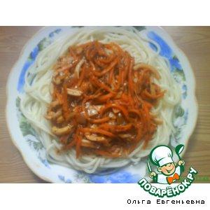 Спагетти с соусом  «Тифани» вкусный пошаговый рецепт с фотографиями как приготовить