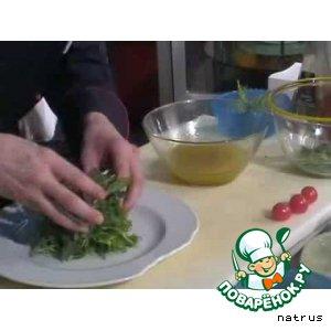 Рецепт Салат из рукколы с креветками