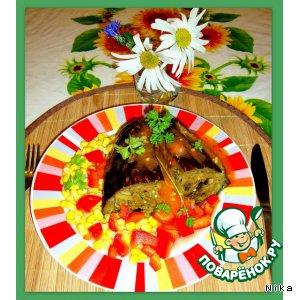 Рецепт Баклажан, фаршированный грибами