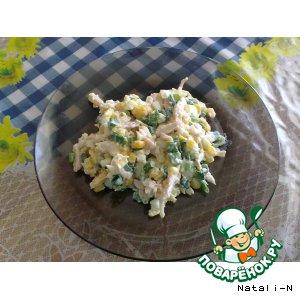 Рецепт Салат с копченой куриной грудкой