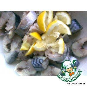 Рецепт Скумбрия маринованная с лимоном