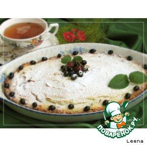 Рецепт Вишневый тарт с творожным суфле