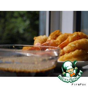 Рецепт Креветки тэмпура