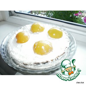 "Рецепт Торт ""Яичница"" с персиками"
