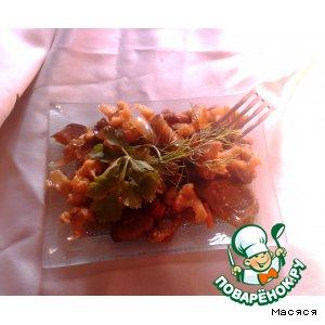 """Рецепт Овощи со свининой в соусе """"Терияки"""""""