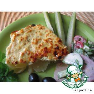 Рецепт Картофельная запеканка с куриным суфле