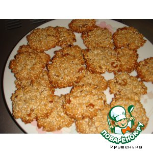 Рецепт Печенье овсяное с грецкими орехами и медом