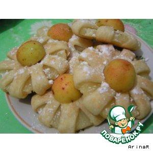 """Рецепт Кольца ананаса в слоеном тесте """"Такой вот букет"""""""