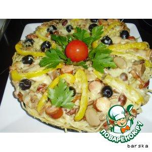 Рецепт Спагетти-пицца