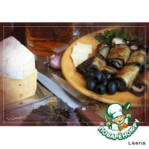 Рецепт Рулетики из баклажанов и куриного филе