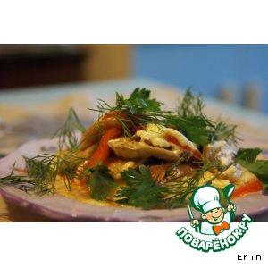 Баклажаны, запеченные с грибами и помидорами