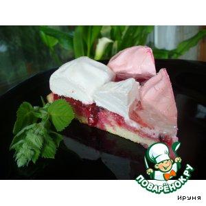 Рецепт Клюквенный торт с зефиром