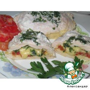 Рецепт Куриная грудка с помидорами и сыром
