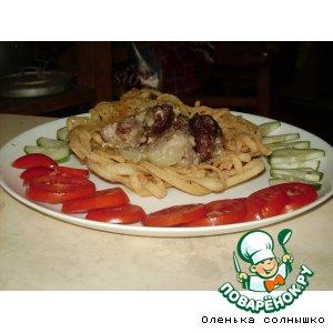 Рецепт Корзиночки из лапши со свининой