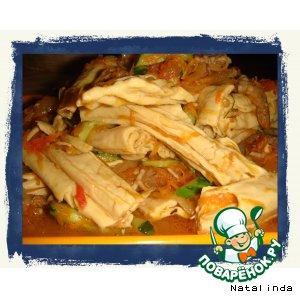 Как приготовить Спаржа по-корейски с мясом от  Натальюшки пошаговый рецепт с фото