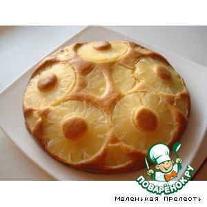 Рецепт Ананасовый пирог со сгущенкой