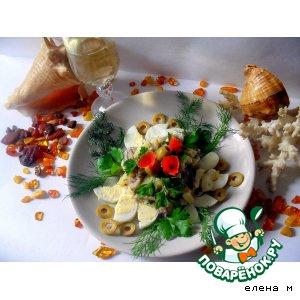 Рецепт Салат с сельдью и картофелем