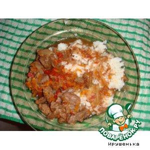 Рецепт Говядина в горшочке с томатами