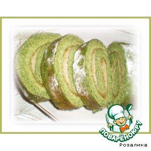 Рецепт Оригинальный зеленый рулет