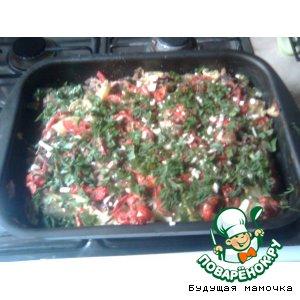 Рецепт Ароматная запеканка из овощей под молочным соусом