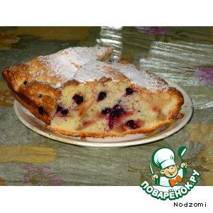 Рецепт Бисквитный пирог с фруктами