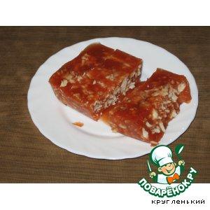 Рецепт Томатный холодец с рыбой