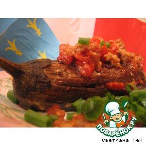 Рецепт Баклажаны с мясной начинкой и томатами