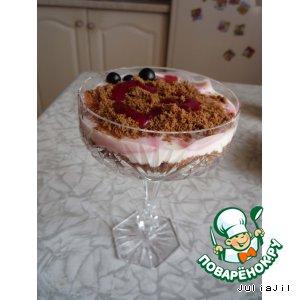Рецепт Творожно-смородиновый десерт