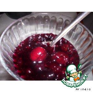 Рецепт Варенье из черешни и черной смородины