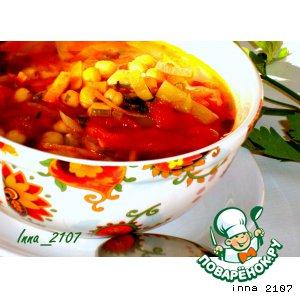 : Суп из нута постный
