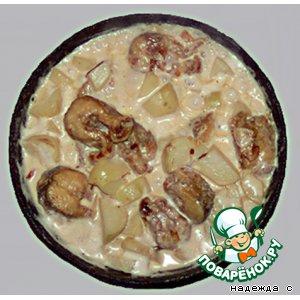 Рецепт Щука с молодым картофелем в сметане