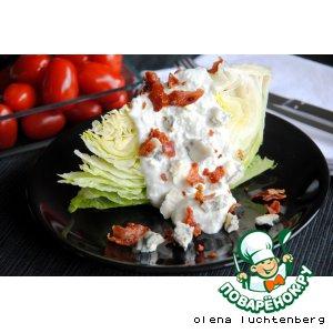 Рецепт Дольки салата айсберг с голубым сыром