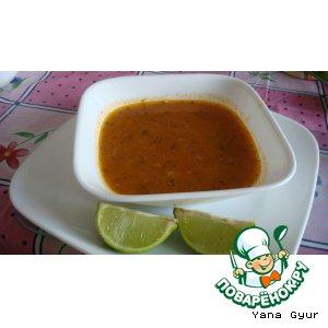 Рецепт Мерджимек - турецкий суп из красной чечевицы