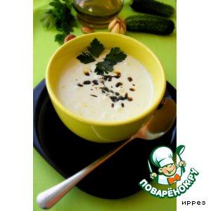 Рецепт Холодный огуречный суп