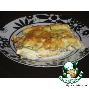 Кабачки, запеченные с сыром и чесноком
