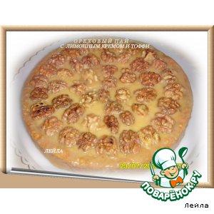 Рецепт Ореxовый пай с  лимонным кремом и тоффи