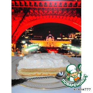 Рецепт Genoise avec du cafe parfait et meringue (бисквит с кофейным парфе и кремом-безе)