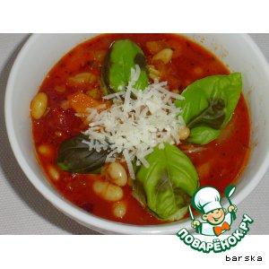 Рецепт Суп из томатов  и белой фасоли по-итальянски