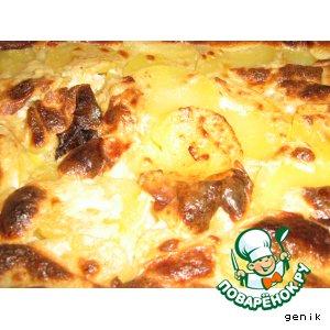 Рецепт Картошечка, запеченная в молоке