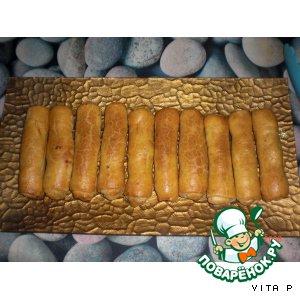 'Сигары'-пирожки с капустой